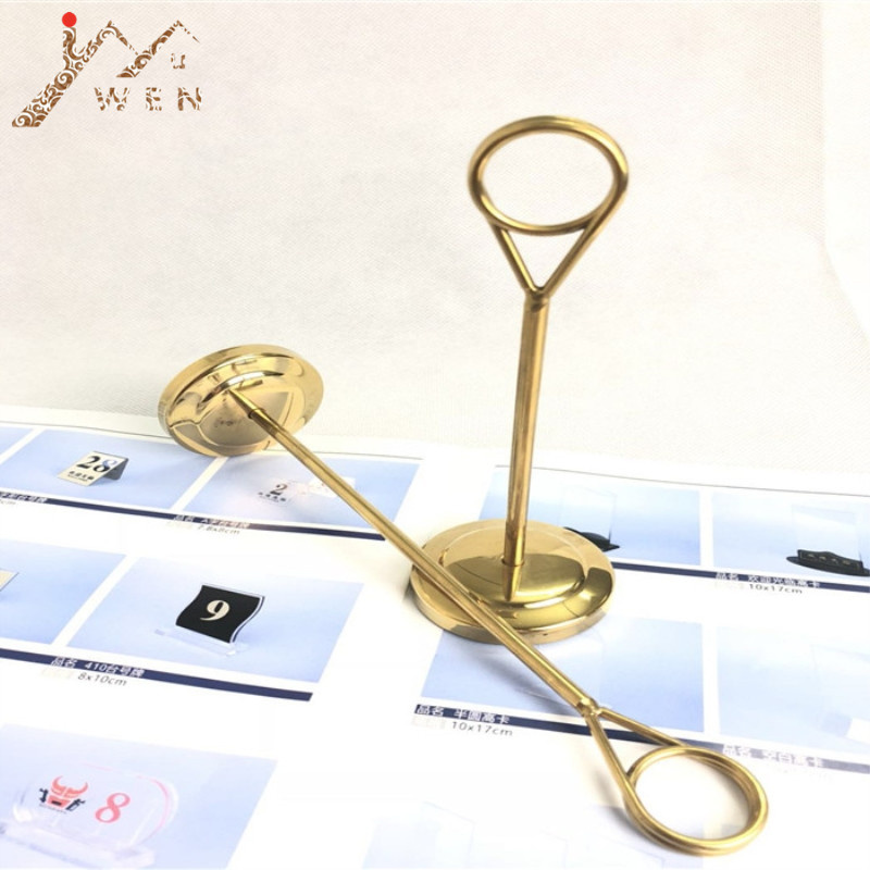 Metal Circle Steel Table Number Plate Place Card Holder Menu Stand for Wedding Restaurant Home Decoration