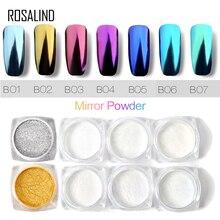 Rosalind 1PCS Gold/Silver nails Glitters sequins Magic Mirro