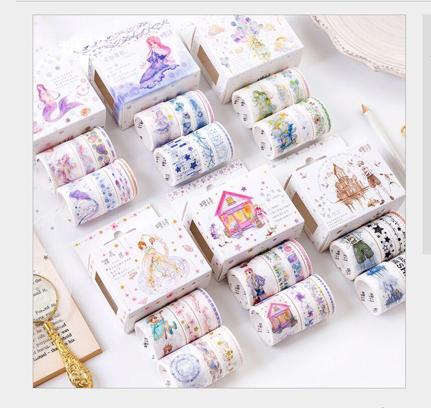 8 Rolls/box Cardcaptor Sakura Starlight Wish Balloon Dream Mermaid Girl Washi Tape DIY Planner Diary Scrapbooking Masking Tape