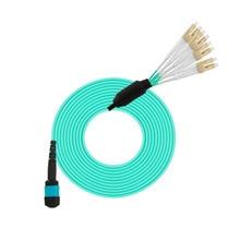 2pairs/lot MPO/APC-LC/APC 8 Core Fiber Optic Patch Cord Cables 3M