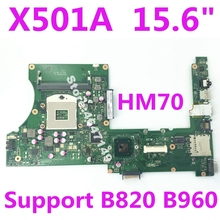 X501A SLJNV HM70 Support B820 B960 CPU Mainboard REV 2.0 For ASUS X501A X401A X301A Laptop motherboard 100% Tested цена