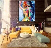 Top Kunstenaar Handgeschilderde Figuur Schilderen Abstract Naakt Olie op Canvas Handgemaakte Moderne Abstracte Mes Lady Sexy Back Olieverfschilderijen