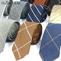 2016 nueva rayas corbata azul de la boda delgado lazo masculino oro mariage flaco corbata hombre algodón kravat narrow corbatas de moda