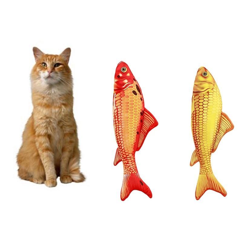 Pets Cat Kitten Chewing Cat Toys Catnip Stuffed Fish Interactive Kitten Product Cat Supplies New