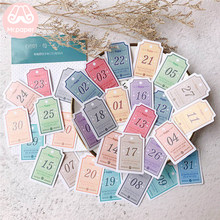 Mr.paper 31Pcs/box Hello Everyday Minimalist Daily Diary Stickers Scrapbooking Planner Date Mark Decorative Stationery Stickers(China)