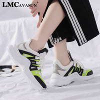 LMCAVASUN Platform Sneakers Women 2019 Breathable Mesh Casual Shoes Female Fashion Sneaker Lace Up Women Vulcanize Shoes
