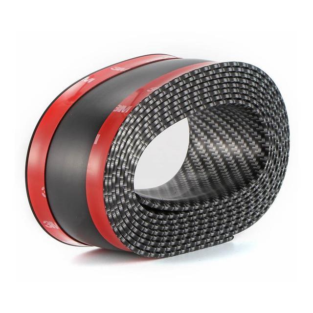Car Sticker 5D Carbon Fiber Molding Threshold Rubber Protector Accessories