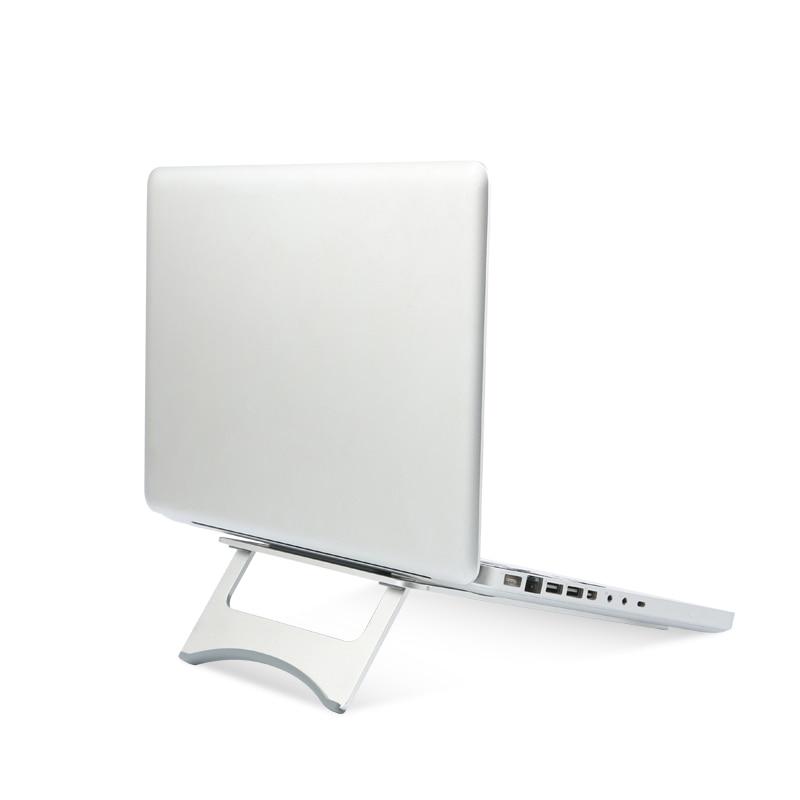 все цены на Folding Portable Metal Laptop Stand Aluminium Alloy Notebook Cooling Holder 18 Degree Ergonomics Angle for MacBook 10-17 inch онлайн