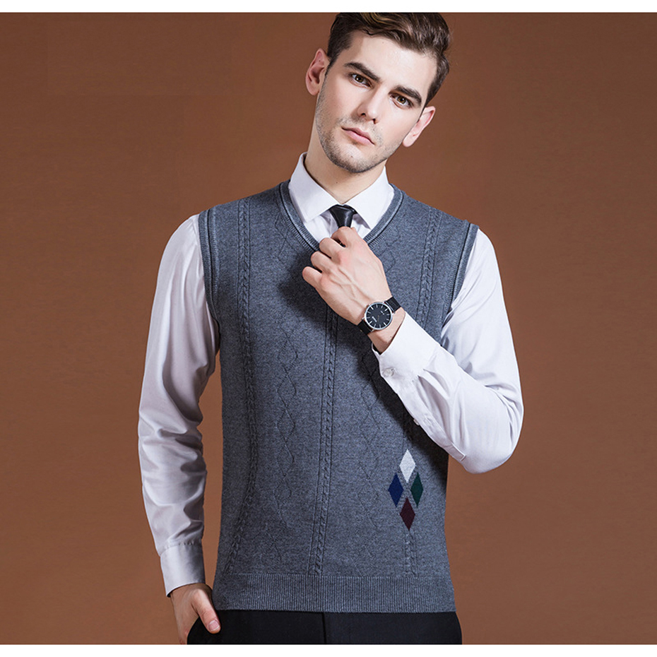 Gehorsam Asiatische Größe Männer Pullover Pullover Sleeveless Grundlegende Stricken Weste Wolle Stilvolle Mode Lässig V Neck 2016c001