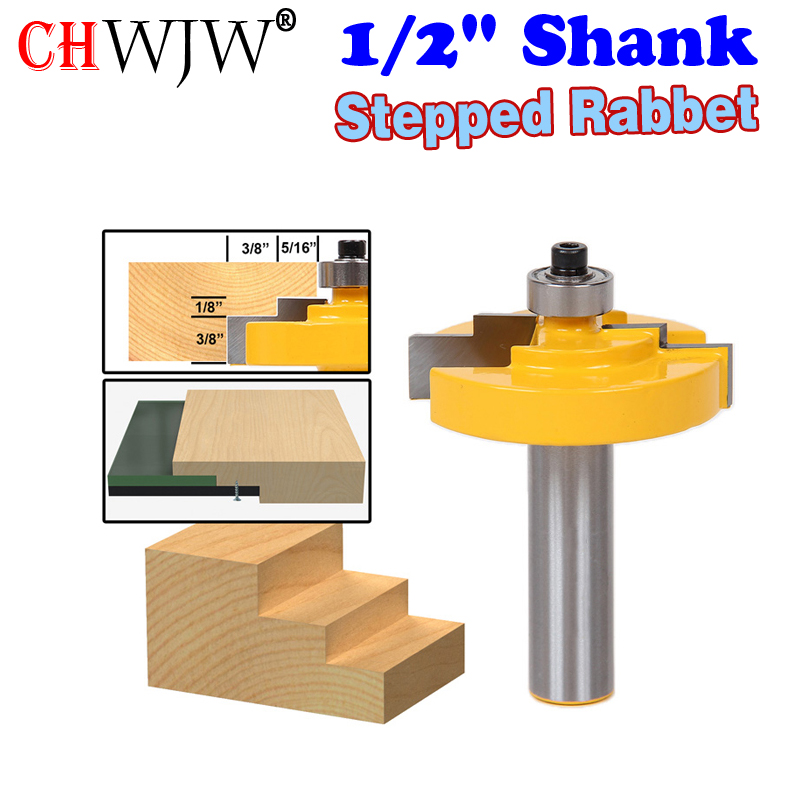 1pc 12 Shank Picture Frame Stepped Rabbet Molding Router Bit C3