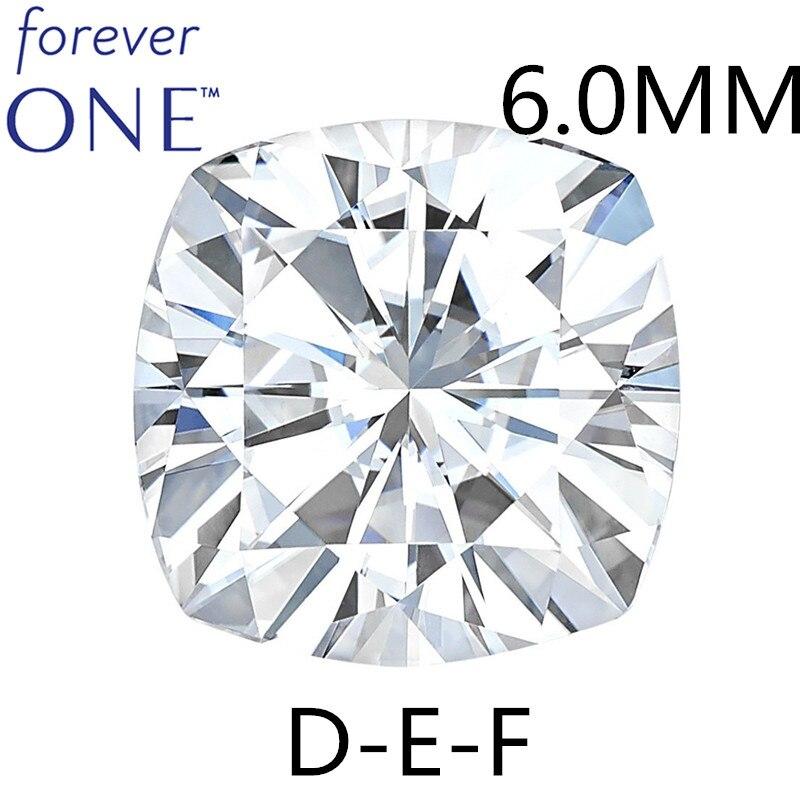 Certifié 0.96 Carat incolore coussin coupe VS DEF couleur Charles Colvard Forever un Moissanite lâche pierre gemme Pass diamant testeur