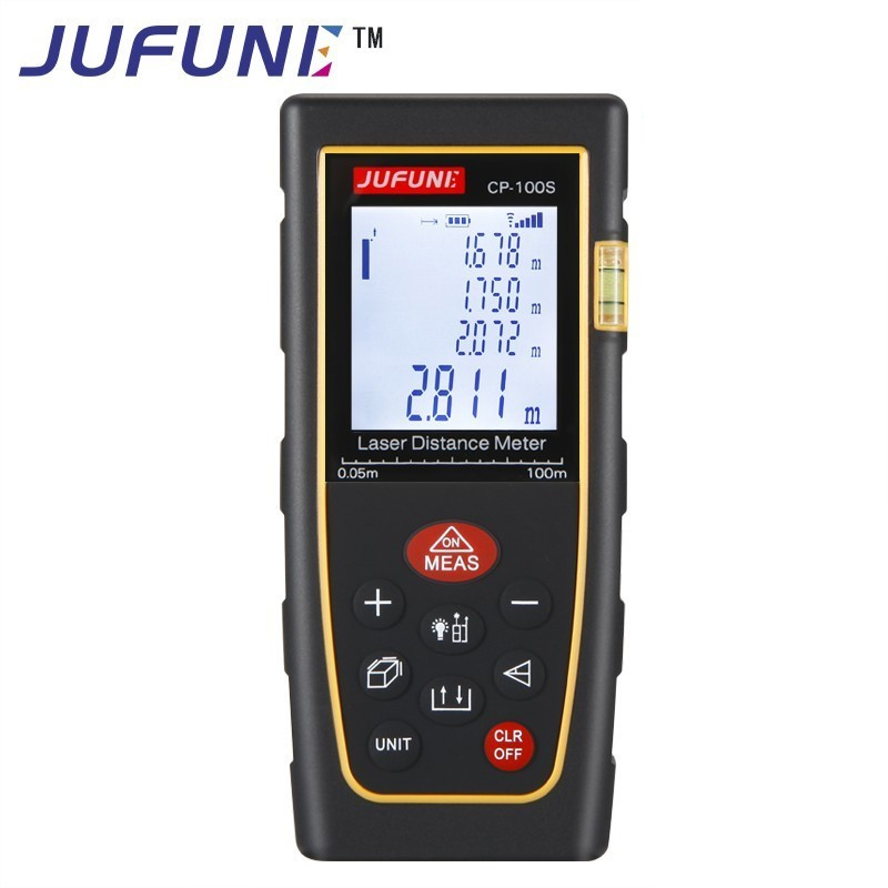 JUFUNE Laser Distance Meter 40M 60M 80M 100M 120M Rangefinder Trena Laser Tape Range Finder Build Measure Device Ruler Test Tool