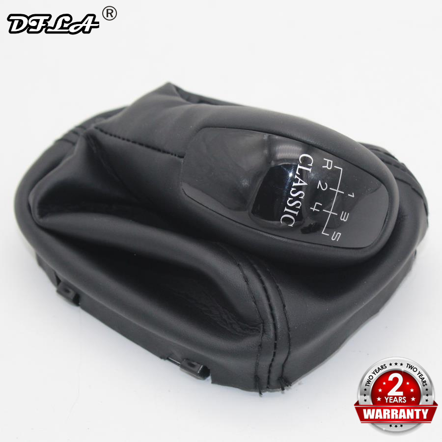 For Mercedes Benz E Class W211 S211 2003 2004 2005 2006 2007 2008 2009 Car 5 Speed 6 Gear Car Shift Gear Knob With Leather Boot