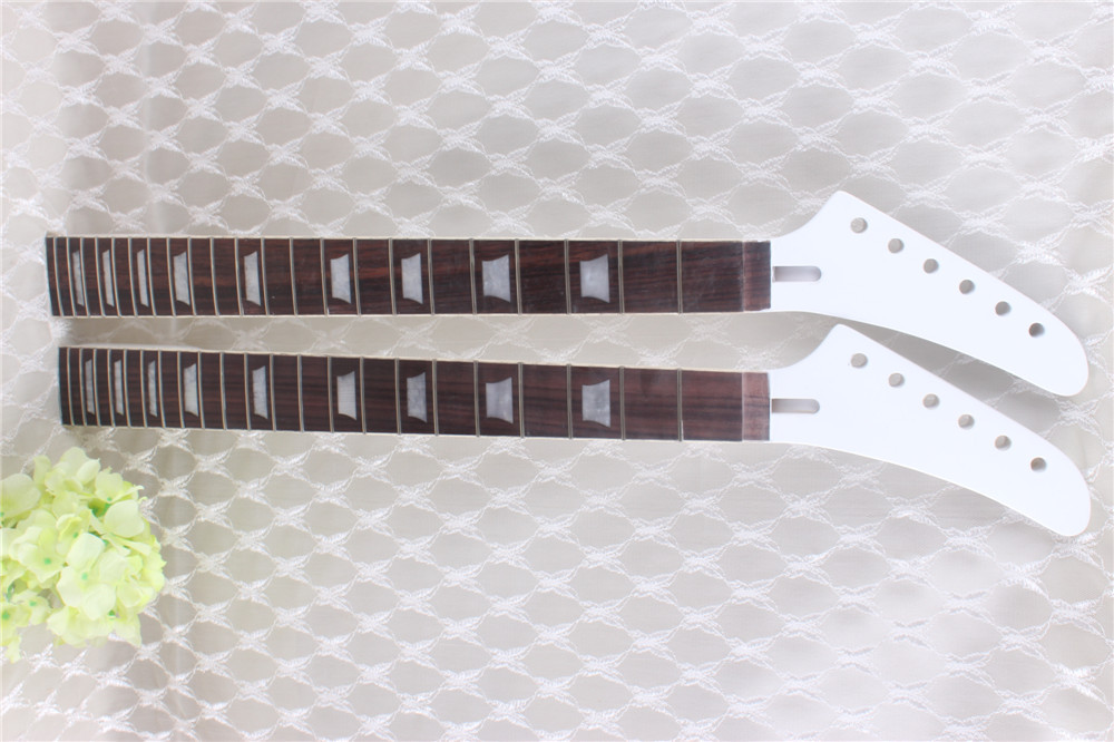 7313#New one black   22  fret  white  Good Unfinished electric   guitar neck   mahogany   made  and  rosewood   fingerboard new electric guitar neck rosewood fretboard truss rod 22 fret 25 5 unfinished free shipping