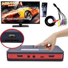 Может Жить Потокового HD Video Game Capture 1080 P AV TV HDMI YPbpr CVBS Box Recorder С Дистанционным Управлением может OBS Микрофона к USB Диск