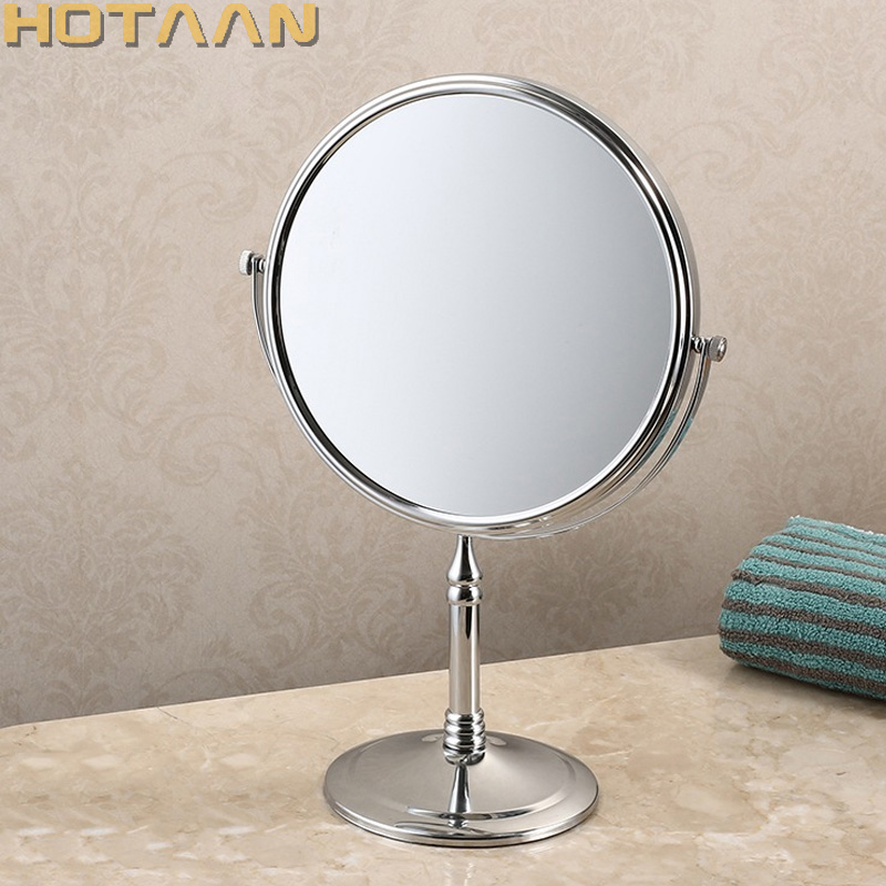 100% New high quality 8 dual Makeup mirrors 1:1 and 1:3 magnifier Copper Cosmetic Bathroom Double Faced Bath Mirror,YT-9103 bakala dual makeup mirrors 1 1 and 1 3 magnifier copper cosmetic bathroom double faced bath mirror wall mirror br 6738