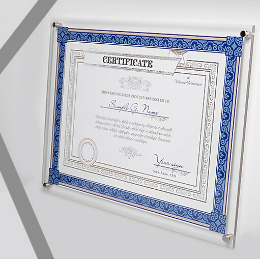 A3 Wall Mounted Acrylic Photo Certificate Frame tag sign holder picture photo wall sign display rack