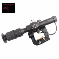 Hot NATOARMS SVD Dragunov Tactical 4x26 Red Illuminated AK Rifle Scope For Hunting Shooting Free Shipping