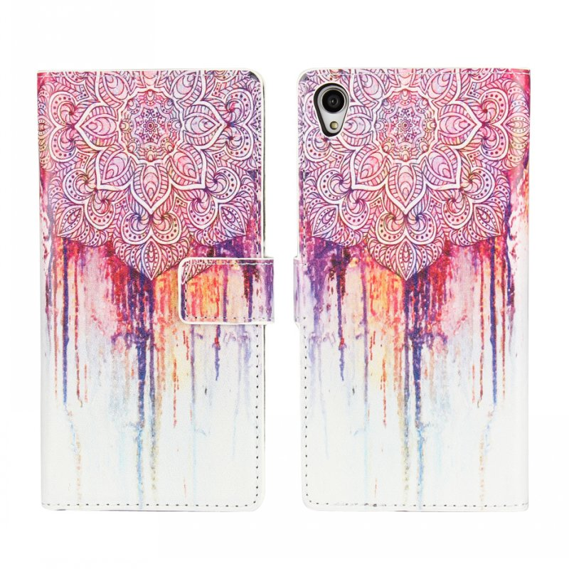 For Sony Xperia Z3 Phone Case Coque Flip Cover Wallet Leather Holder Mandala Painting Mobile Bag Etui For Sony Xperia Z3 Capa