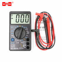 WHDZ DT700D Mini Digital Multimeter Buzzer Square Wave Output Ampere Voltage Ohm Meter Tester Probe Lead Ammeter Voltmeter