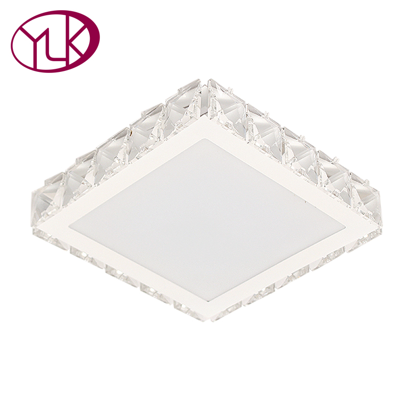 Youlaike Modern Corridor Mirror Ceiling Lamp Crystal Surface Mounted LED Ceiling Lights Home Luminaria