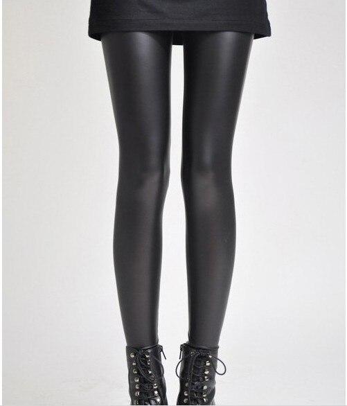 Women's Black Fashion pu Faux Leather Skinny Leggings Pants Women footless Leggins Woman Jeggings Jeans girl jeggings 962 - Angel City Store store