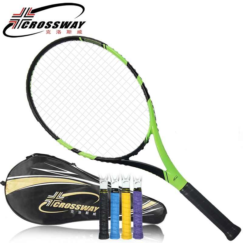 acket tennis CROSSWAY Brand 1 Piece Tennis Racket High Quality Carbon Fiber Woman & Men Tennis Racket  with a High-quality Bag