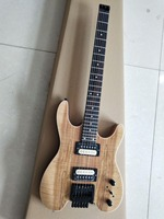 Headless guitar map natural color 6 string headless electric guitar, zebra pickup, free delivery