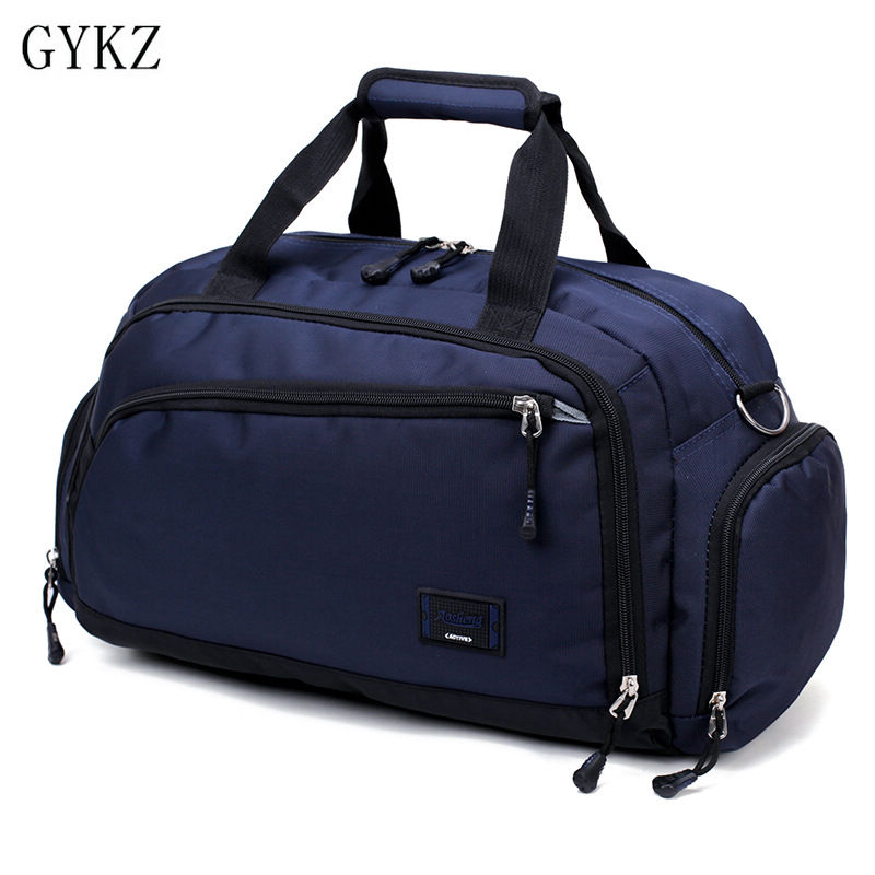 GYKZ New Women and Men Sport Gym Bags Large Duffle Bag Portable Travle Bag Waterproof Nylon Outdoor Fitness Shoulder Bag HY165 nylon waterproof sports bag fitness bag profession men and women gym shoulder bag surper light travel luggage crossbody bags