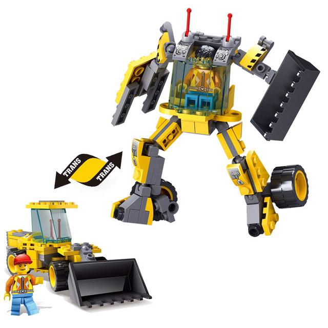 Kazi Brick Trans Toys City Construction Bulldozer Engineering Vehicles Robot Model Building Blocks With Original Box