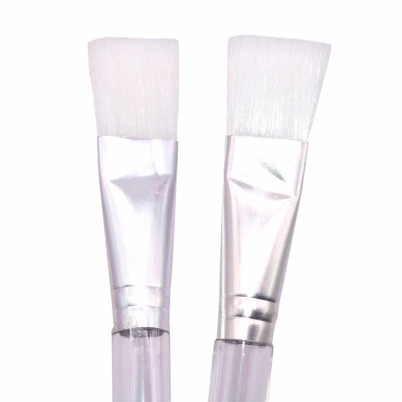 1 個水彩ガッシュペイントブラシフラット指摘絵画ブラシ透明プラスチックハンドル描画ツール
