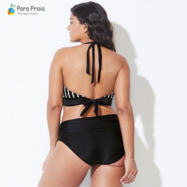 L-5XL Plus Size Swimwear Large Size Women 2019 Push up Bikini Set High waisted Swimsuits Women bathing Suit Halter Swim Wear 1