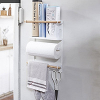 Shelf Wall organizer kitchen tools Non folding Rack kitchen Cabinet organizer Sanitary Tissue folder