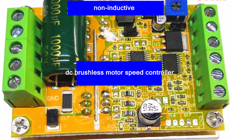 upgrade BLDC three-phase dc brushless motor speed controller Driver board PLC FOC control 6.5V-50V wide voltage 350W PWM CW/CCW