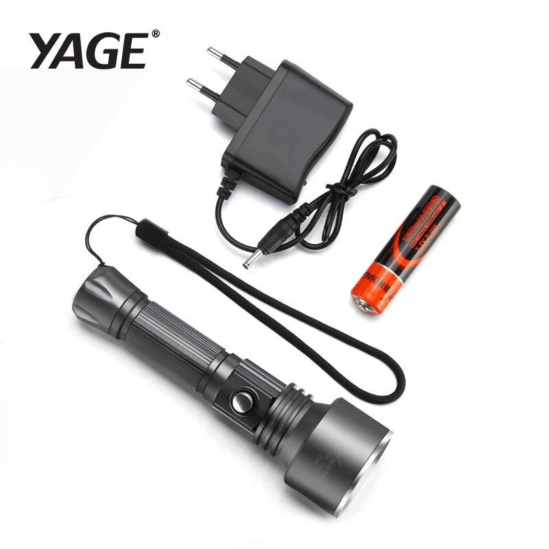 YAGE LED El Feneri CREE XP-E LED taktik torch avcılık ışık şarj edilebilir el feneri polis el feneri 18650 feneri lampe