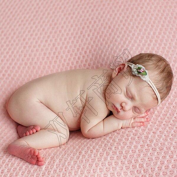 150*100cm malha acrílico tecido fino bebê recém-nascido