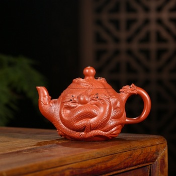Yixing are recommended by shu-ming liu all hand pot of run of mine ore, Kowloon dahongpao purple tea set 400 ml