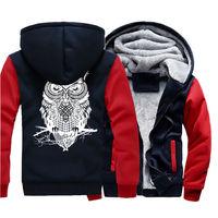 2019 winter zipper hooded animal eagle print jacket thickened Harajuku hoodie camouflage cardigan fleece unisex Cosplay Coat 24