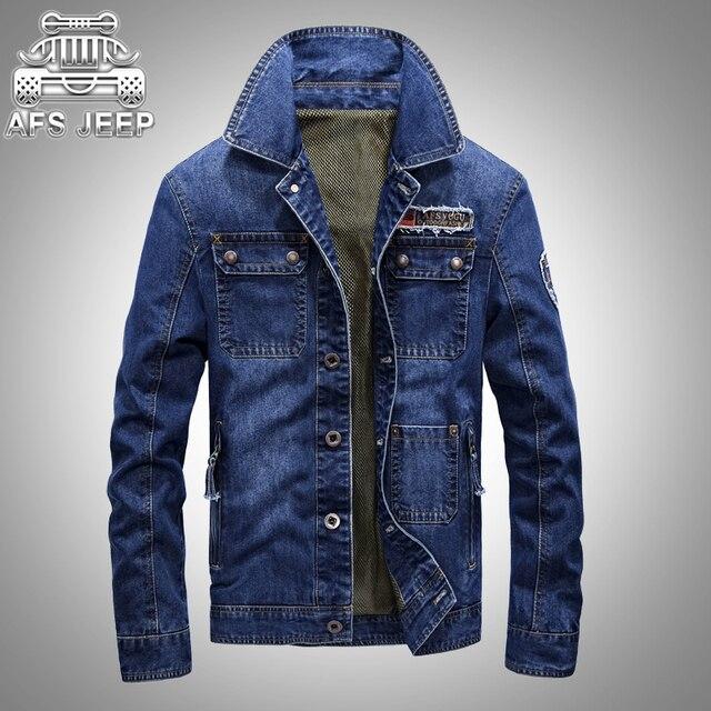 4d8d633c61 US $41.62 28% di SCONTO|Marca originale afs jeep giacche 2017 new spring  giacche jeans uomo giacca a vento casual e slim fit clothing da fatnb in ...