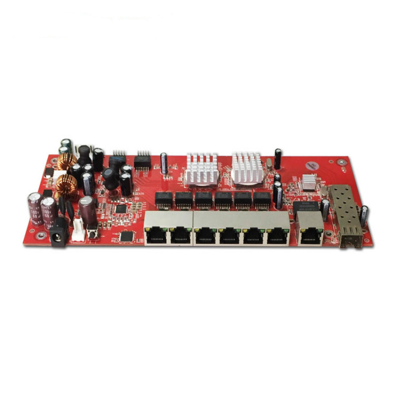 OEM/ODM PoE switch 48 V 8 port 10/100 Mbps poe commutateur pcb conseil pour IP téléphone, IP caméra extérieure wifi antenne - 5