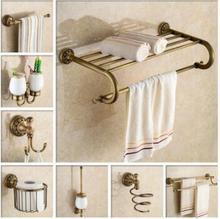 Free Shipping, Brass Bathroom Accessories Set,Robe Hook,Paper Holder,Towel  Bar