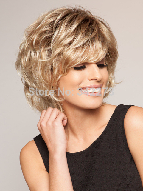 Fashionable Pixie Cut Hairstyle Synthetic Wigs Short Wavy Hair Wigs