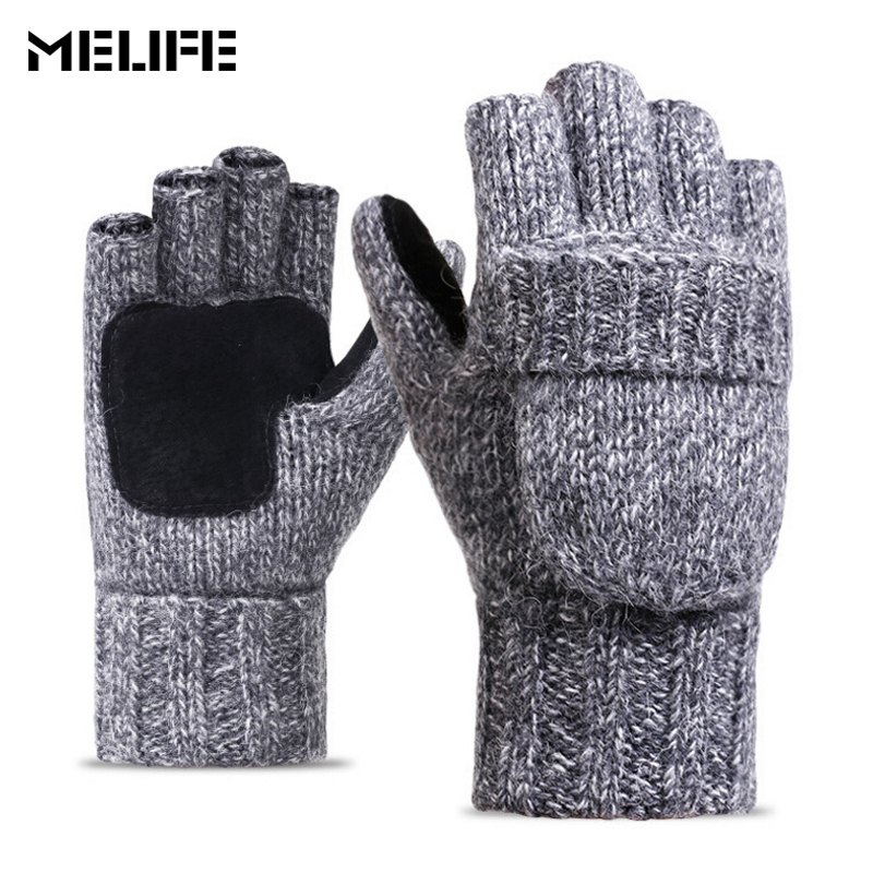 MELIFE New Half-finger Winter Skiing Gloves Windproof Outdoor Sports Glove For Cycling Bicycle Unisex Keep Warm Snow Gloves