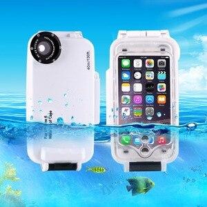 Image 2 - IPhone 6 6 s 7 7 Artı 6 Artı Su Geçirmez Dalış Konut Kapak Kılıf PC ABS Çantası Kir/ şok Geçirmez Fotoğraf Video Alarak Sualtı