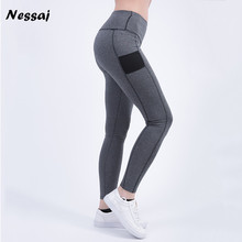 Nessaj Women's Sexy Leggings Fitness High Waist Elastic Comfortable Super Stretch Women Leggings Workout Leggins Trousers  Pants