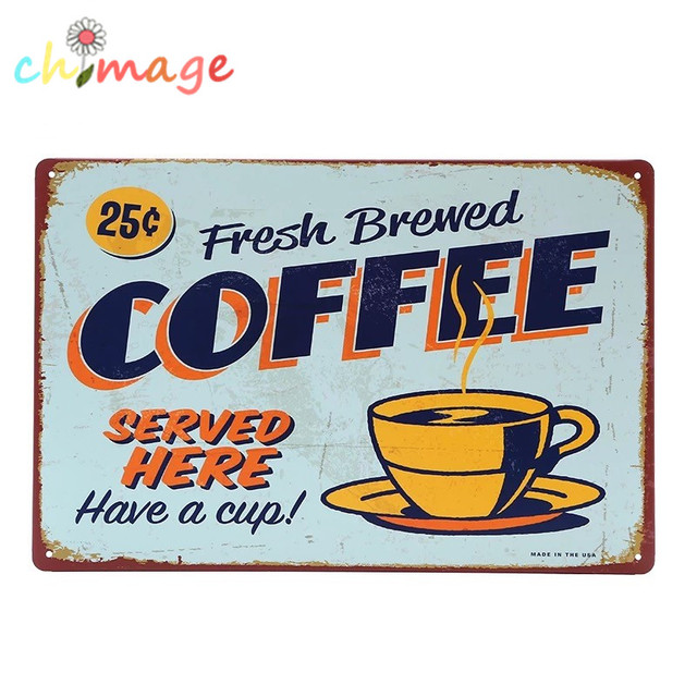 COFFEE HAVE A CUP Tin Sign Bar pub home Wall Decor Retro Metal Art ...