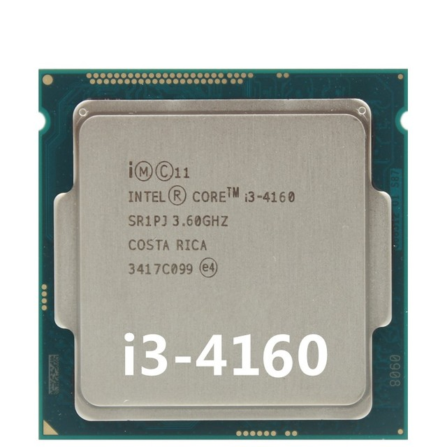 НОВЫЙ Оригинальный Intel i3-4160 Процессор (3 М Кэш, 3.60 ГГц), Dual-core i3 LGA1150 4160 Настольных ПРОЦЕССОРОВ 54 Вт SR1PK scrattered штук
