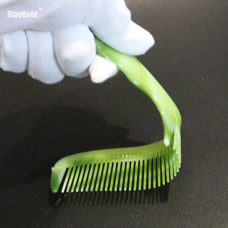StayGold 2 pcs green combs pliable hair handle brush