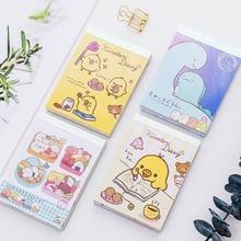 BLINGIRD 4 stílus Creative Cute Chick Cover Student Office Notepad Scratchpad Minden könyv 100 oldalas jegyzetfüzet állati kawaii ajándék