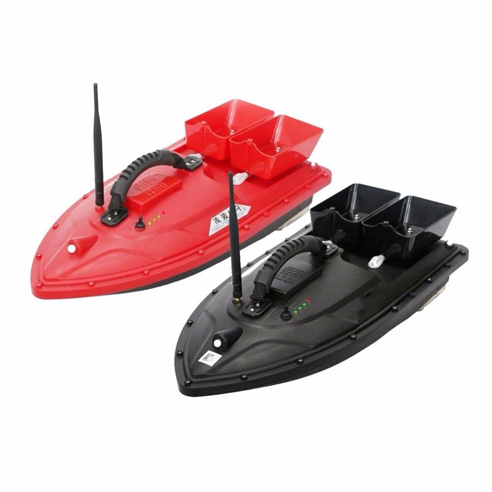 Nouveaux appâts de pêche sans fil RC bateau Double moteurs 500 M détecteur de poisson simple main contrôle EU prise 2 couleur